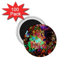 Alien World Digital Computer Graphic 1 75  Magnets (100 Pack)