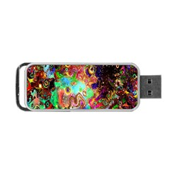 Alien World Digital Computer Graphic Portable Usb Flash (two Sides) by Simbadda