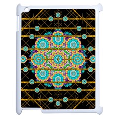 Gold Silver And Bloom Mandala Apple Ipad 2 Case (white) by pepitasart