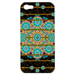 Gold Silver And Bloom Mandala Apple Iphone 5 Hardshell Case by pepitasart