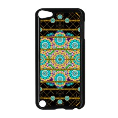 Gold Silver And Bloom Mandala Apple Ipod Touch 5 Case (black) by pepitasart