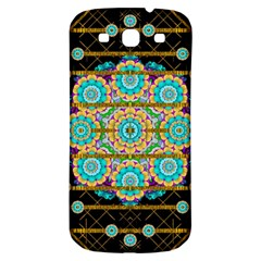 Gold Silver And Bloom Mandala Samsung Galaxy S3 S Iii Classic Hardshell Back Case by pepitasart