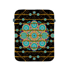 Gold Silver And Bloom Mandala Apple Ipad 2/3/4 Protective Soft Cases by pepitasart