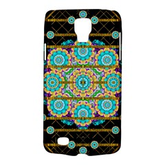 Gold Silver And Bloom Mandala Galaxy S4 Active by pepitasart