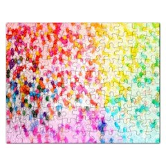 Colorful Colors Digital Pattern Rectangular Jigsaw Puzzl by Simbadda