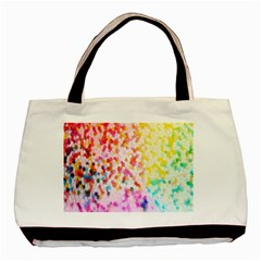 Colorful Colors Digital Pattern Basic Tote Bag (two Sides)