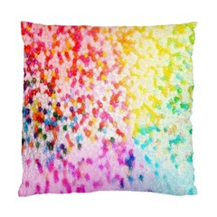 Colorful Colors Digital Pattern Standard Cushion Case (two Sides) by Simbadda