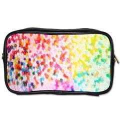 Colorful Colors Digital Pattern Toiletries Bags 2 Side by Simbadda