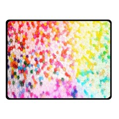 Colorful Colors Digital Pattern Fleece Blanket (small) by Simbadda
