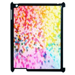 Colorful Colors Digital Pattern Apple Ipad 2 Case (black) by Simbadda