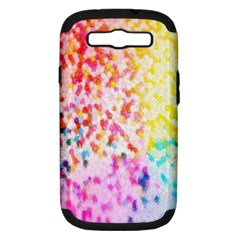 Colorful Colors Digital Pattern Samsung Galaxy S Iii Hardshell Case (pc+silicone) by Simbadda