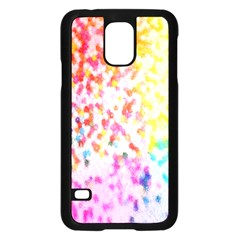 Colorful Colors Digital Pattern Samsung Galaxy S5 Case (black) by Simbadda