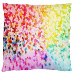 Colorful Colors Digital Pattern Large Flano Cushion Case (Two Sides)