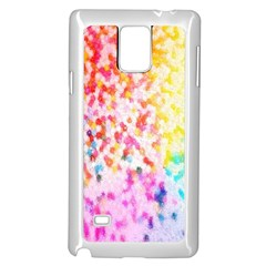 Colorful Colors Digital Pattern Samsung Galaxy Note 4 Case (white) by Simbadda