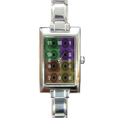 Creative Digital Pattern Computer Graphic Rectangle Italian Charm Watch by Simbadda