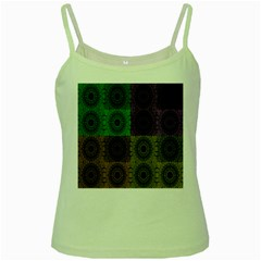 Creative Digital Pattern Computer Graphic Green Spaghetti Tank by Simbadda
