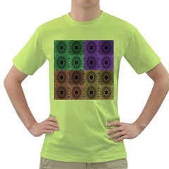 Creative Digital Pattern Computer Graphic Green T Shirt by Simbadda