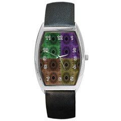 Creative Digital Pattern Computer Graphic Barrel Style Metal Watch by Simbadda