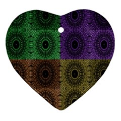 Creative Digital Pattern Computer Graphic Heart Ornament (two Sides) by Simbadda