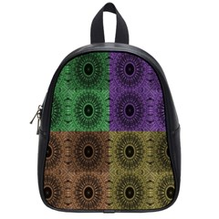 Creative Digital Pattern Computer Graphic School Bags (small)  by Simbadda