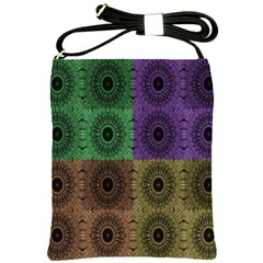 Creative Digital Pattern Computer Graphic Shoulder Sling Bags by Simbadda