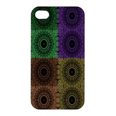 Creative Digital Pattern Computer Graphic Apple Iphone 4/4s Premium Hardshell Case by Simbadda