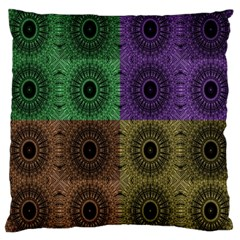 Creative Digital Pattern Computer Graphic Large Cushion Case (two Sides) by Simbadda