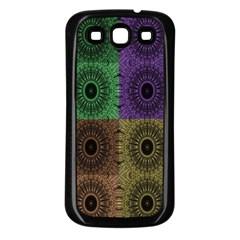 Creative Digital Pattern Computer Graphic Samsung Galaxy S3 Back Case (black) by Simbadda