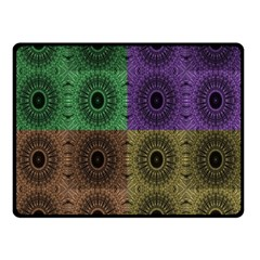 Creative Digital Pattern Computer Graphic Double Sided Fleece Blanket (small)  by Simbadda
