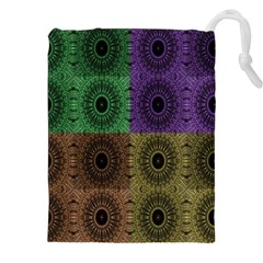Creative Digital Pattern Computer Graphic Drawstring Pouches (xxl) by Simbadda