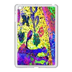 Grunge Abstract Yellow Hand Grunge Effect Layered Images Of Texture And Pattern In Yellow White Black Apple Ipad Mini Case (white) by Simbadda