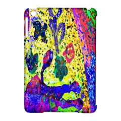 Grunge Abstract Yellow Hand Grunge Effect Layered Images Of Texture And Pattern In Yellow White Black Apple Ipad Mini Hardshell Case (compatible With Smart Cover) by Simbadda