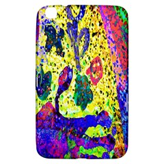 Grunge Abstract Yellow Hand Grunge Effect Layered Images Of Texture And Pattern In Yellow White Black Samsung Galaxy Tab 3 (8 ) T3100 Hardshell Case  by Simbadda