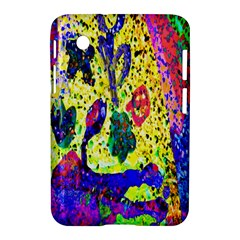 Grunge Abstract Yellow Hand Grunge Effect Layered Images Of Texture And Pattern In Yellow White Black Samsung Galaxy Tab 2 (7 ) P3100 Hardshell Case  by Simbadda