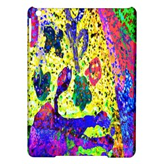Grunge Abstract Yellow Hand Grunge Effect Layered Images Of Texture And Pattern In Yellow White Black Ipad Air Hardshell Cases by Simbadda