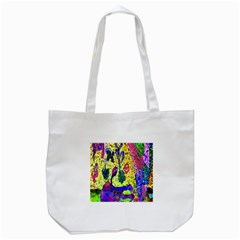 Grunge Abstract Yellow Hand Grunge Effect Layered Images Of Texture And Pattern In Yellow White Black Tote Bag (white) by Simbadda