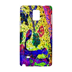 Grunge Abstract Yellow Hand Grunge Effect Layered Images Of Texture And Pattern In Yellow White Black Samsung Galaxy Note 4 Hardshell Case by Simbadda
