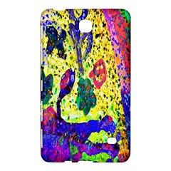 Grunge Abstract Yellow Hand Grunge Effect Layered Images Of Texture And Pattern In Yellow White Black Samsung Galaxy Tab 4 (8 ) Hardshell Case  by Simbadda