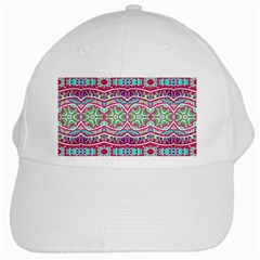 Colorful Seamless Background With Floral Elements White Cap by Simbadda