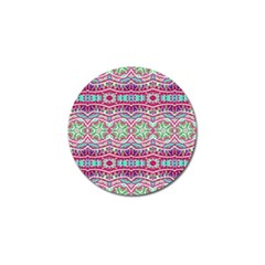 Colorful Seamless Background With Floral Elements Golf Ball Marker by Simbadda