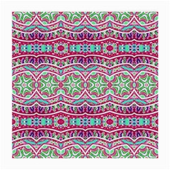 Colorful Seamless Background With Floral Elements Medium Glasses Cloth (2 Side) by Simbadda