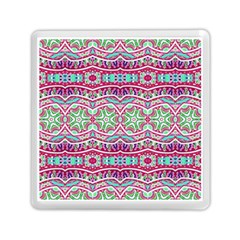 Colorful Seamless Background With Floral Elements Memory Card Reader (square)  by Simbadda