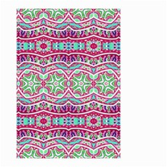 Colorful Seamless Background With Floral Elements Small Garden Flag (two Sides) by Simbadda