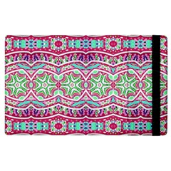 Colorful Seamless Background With Floral Elements Apple Ipad 3/4 Flip Case by Simbadda