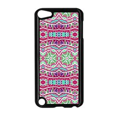 Colorful Seamless Background With Floral Elements Apple Ipod Touch 5 Case (black) by Simbadda