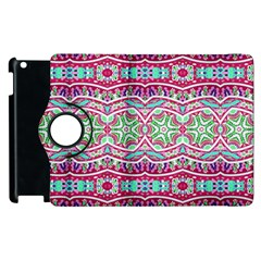 Colorful Seamless Background With Floral Elements Apple Ipad 2 Flip 360 Case by Simbadda