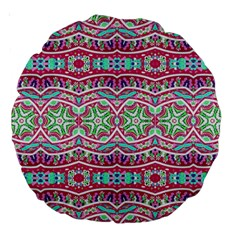 Colorful Seamless Background With Floral Elements Large 18  Premium Round Cushions by Simbadda