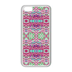 Colorful Seamless Background With Floral Elements Apple Iphone 5c Seamless Case (white) by Simbadda