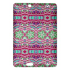 Colorful Seamless Background With Floral Elements Amazon Kindle Fire Hd (2013) Hardshell Case by Simbadda