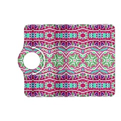 Colorful Seamless Background With Floral Elements Kindle Fire Hd (2013) Flip 360 Case by Simbadda